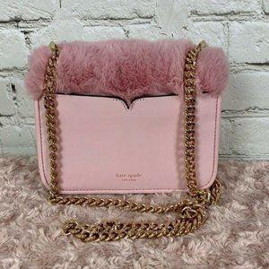 Kate Spade Nicola Twistlock Faux Fur Bag